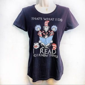 Cat in the Hat/ Game of Thrones Mashup Tee Sz M